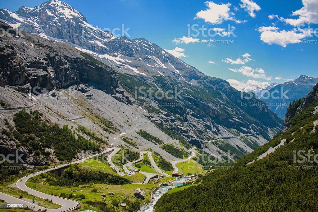 Stelvio Pass, Italy stock photo
