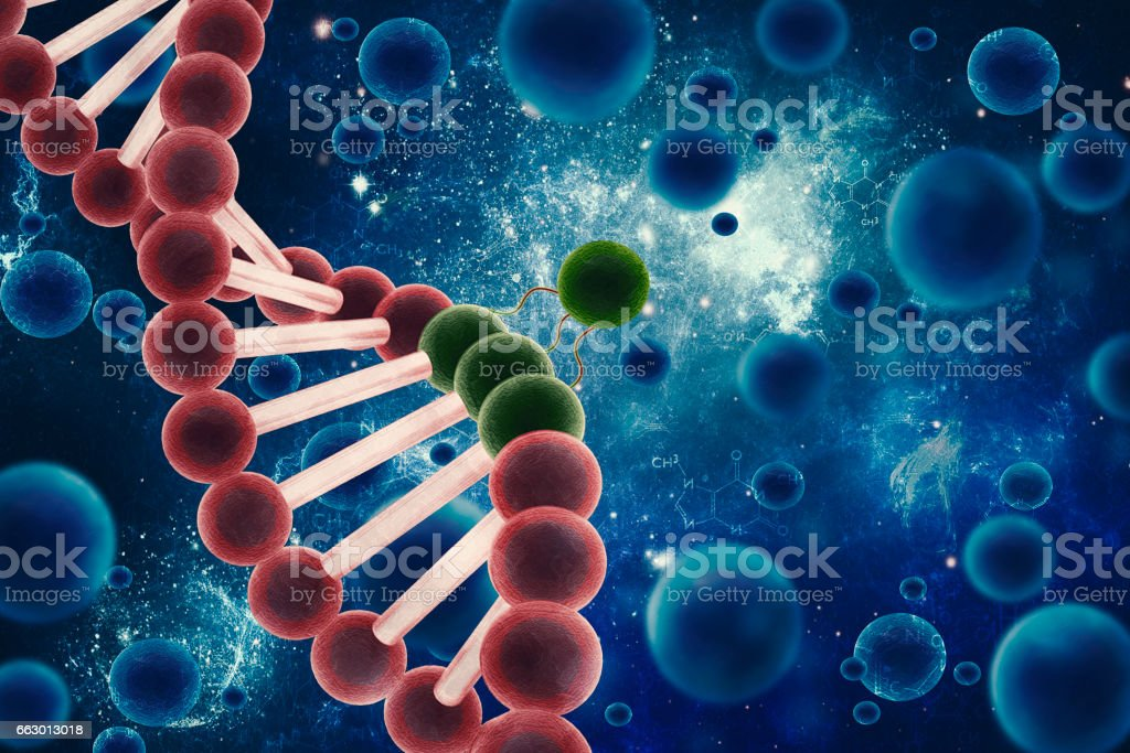 Stem Cell Viral Attack stock photo