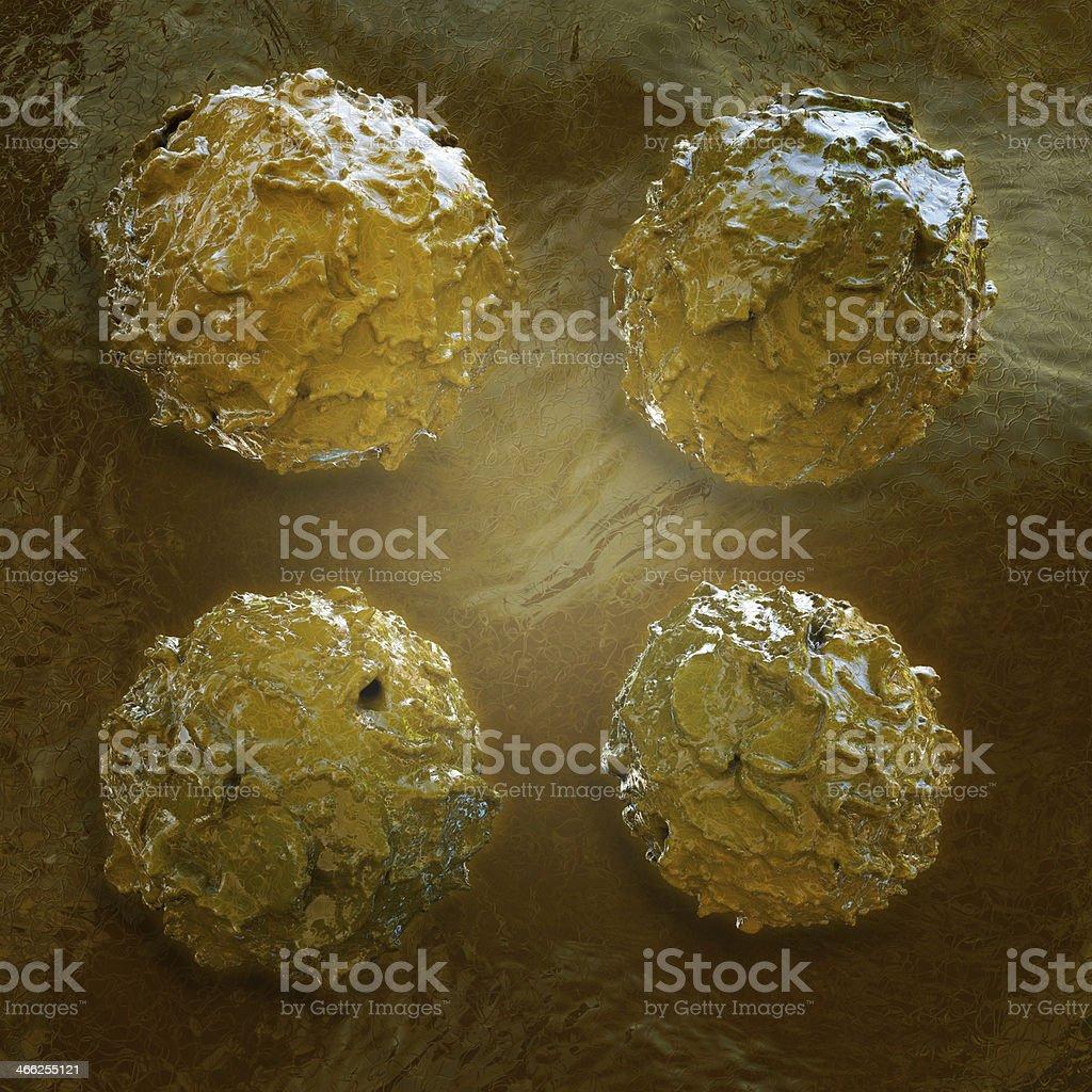 Stem cells - 3d rendered illustration stock photo