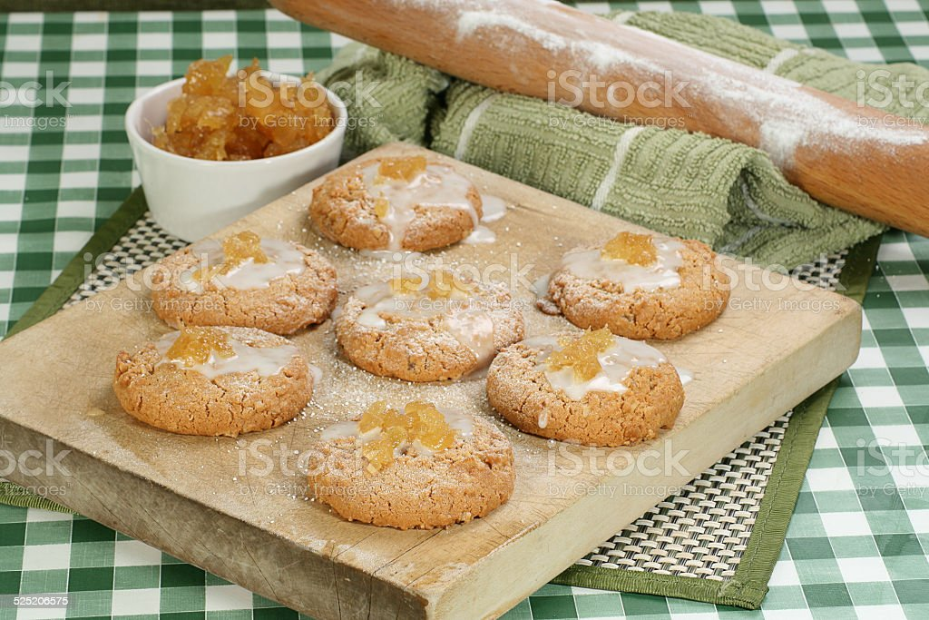 stem ginger cookies stock photo
