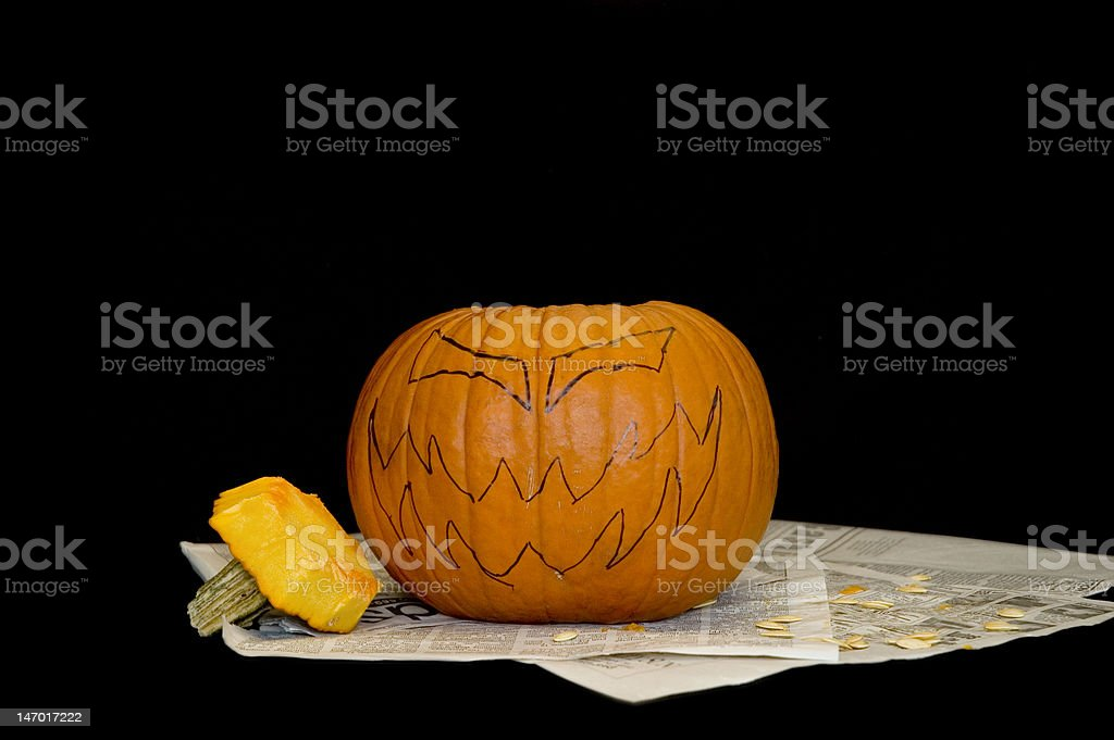 Stenciled pumpkin royalty-free stock photo