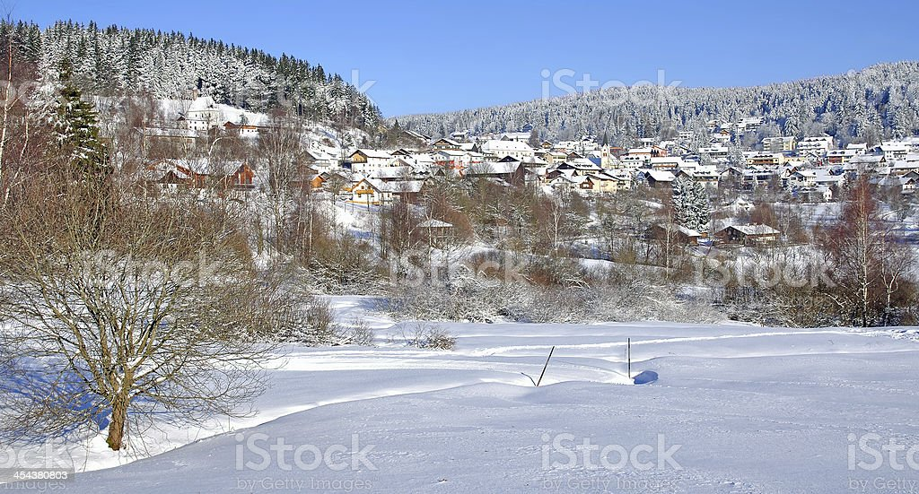 St.Englmar in Bavarian Forest,Germany stock photo