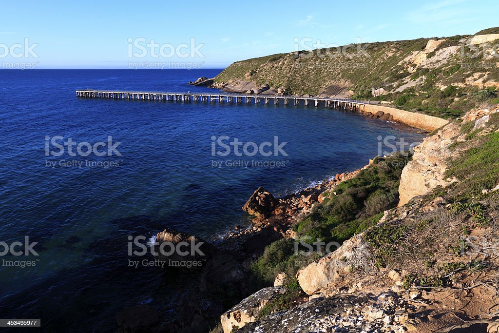 Stenhouse Bay Jetty royalty-free stock photo