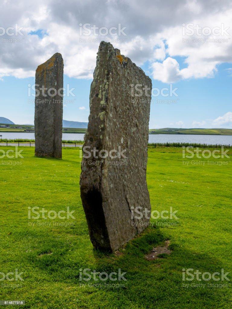 Stenness Standing Stones stock photo