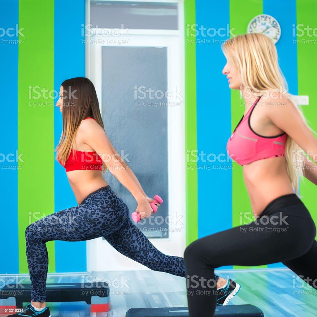 Step aerobic stock photo