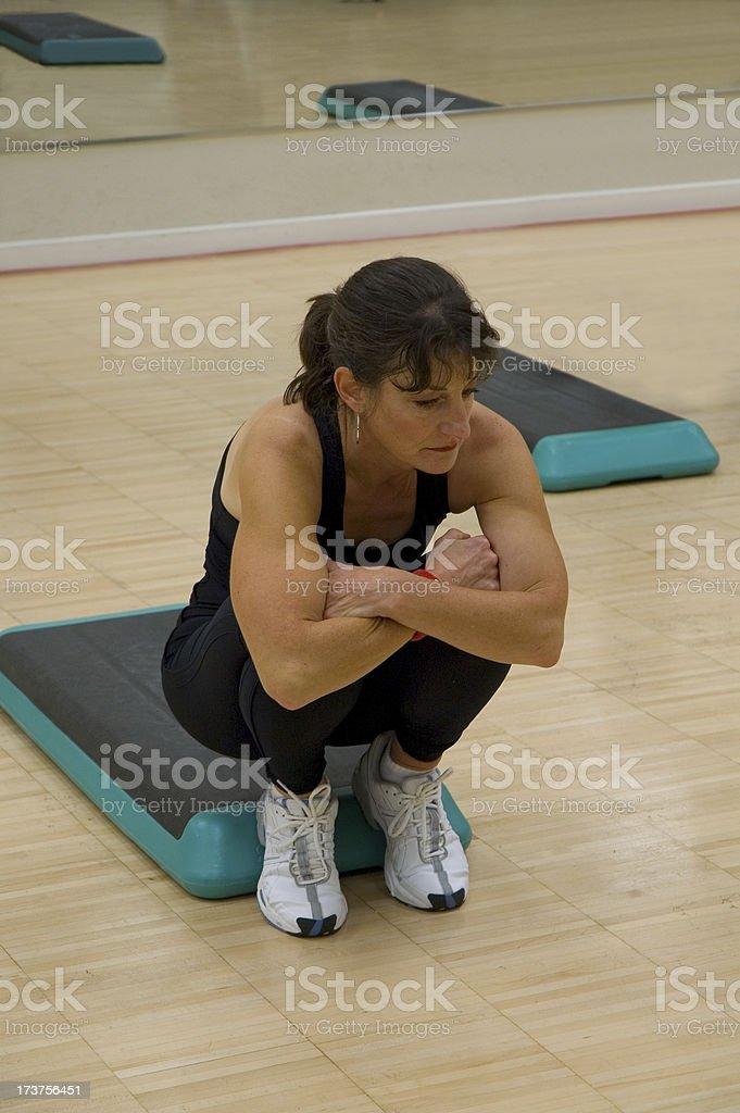 Step classe Stretch foto stock royalty-free