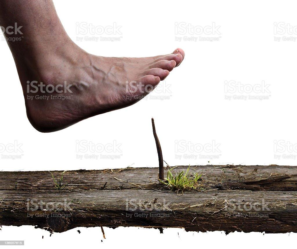 Step carefully stock photo
