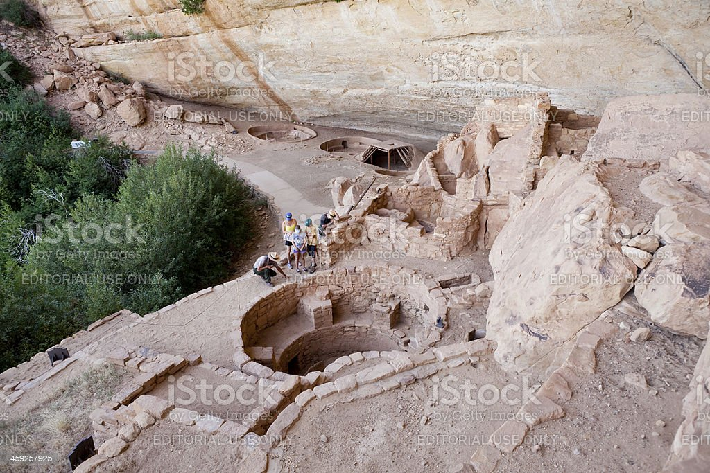 Step House Ruins Tour at Mesa Verde National Park, Colorado stock photo