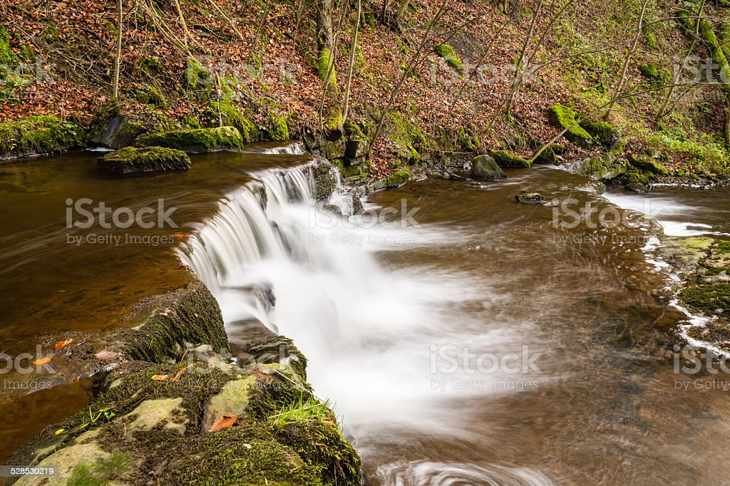 Step in the Scaleber Force Waterfall stock photo