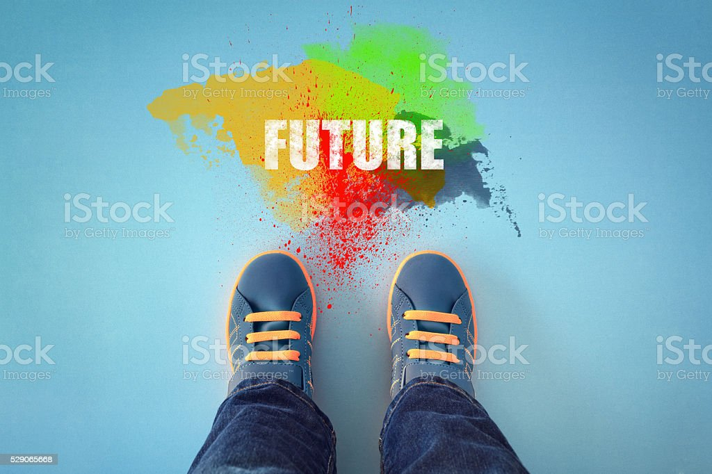 Step into the future stock photo
