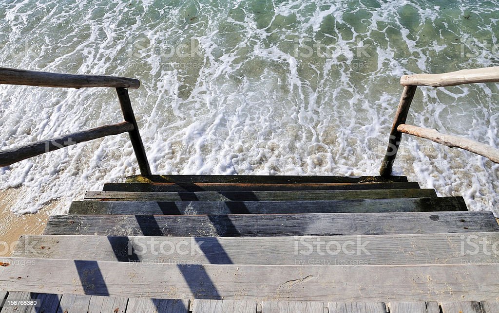 Step into the ocean royalty-free stock photo