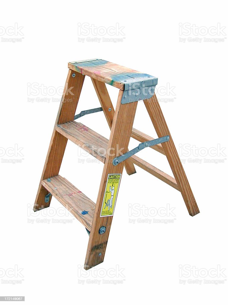 step ladder royalty-free stock photo
