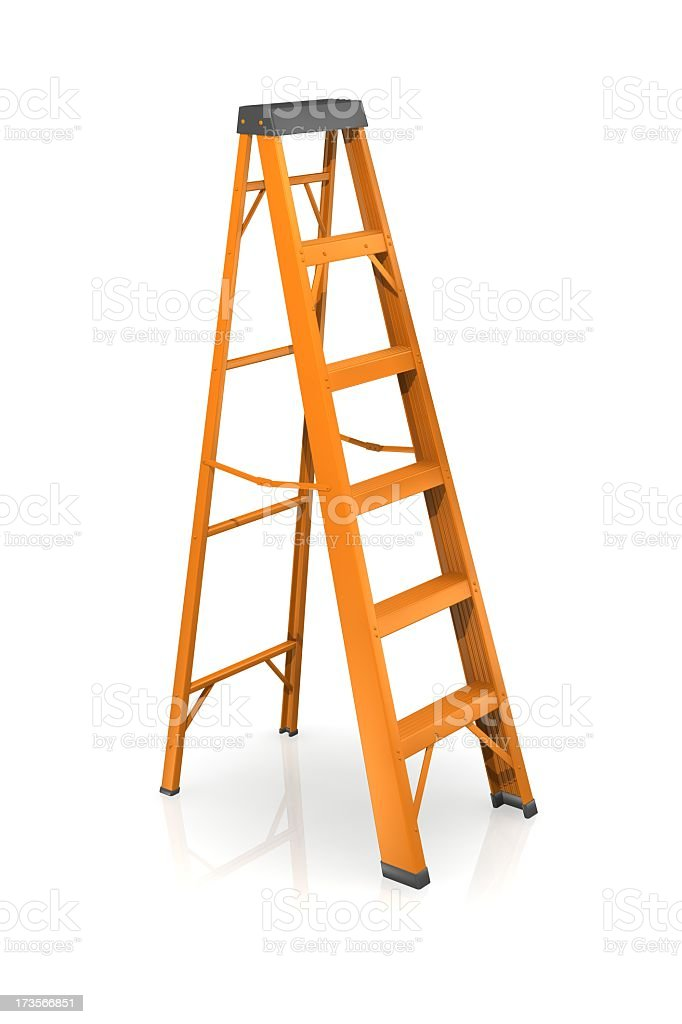 Step ladder ready to help you reach new heights stock photo