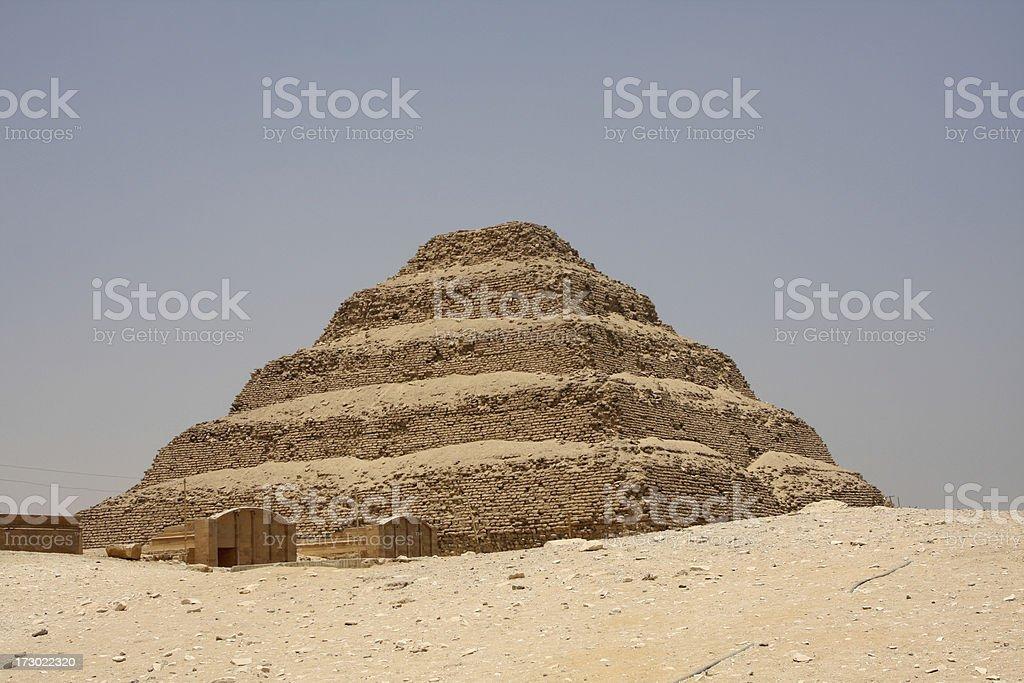 Step pyramid at Saqqara royalty-free stock photo