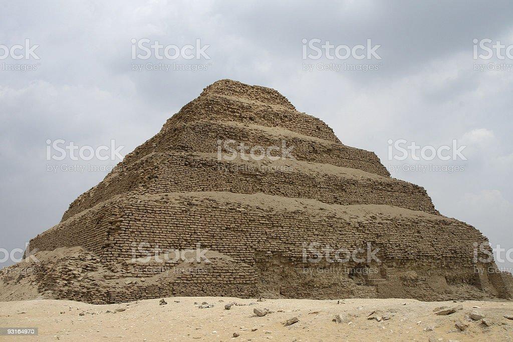 Step Pyramid at Saqqara stock photo