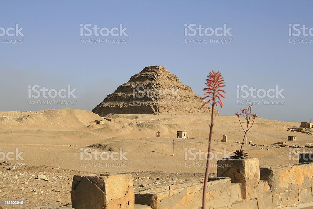 Step Pyramid of Djoser, Egypt stock photo
