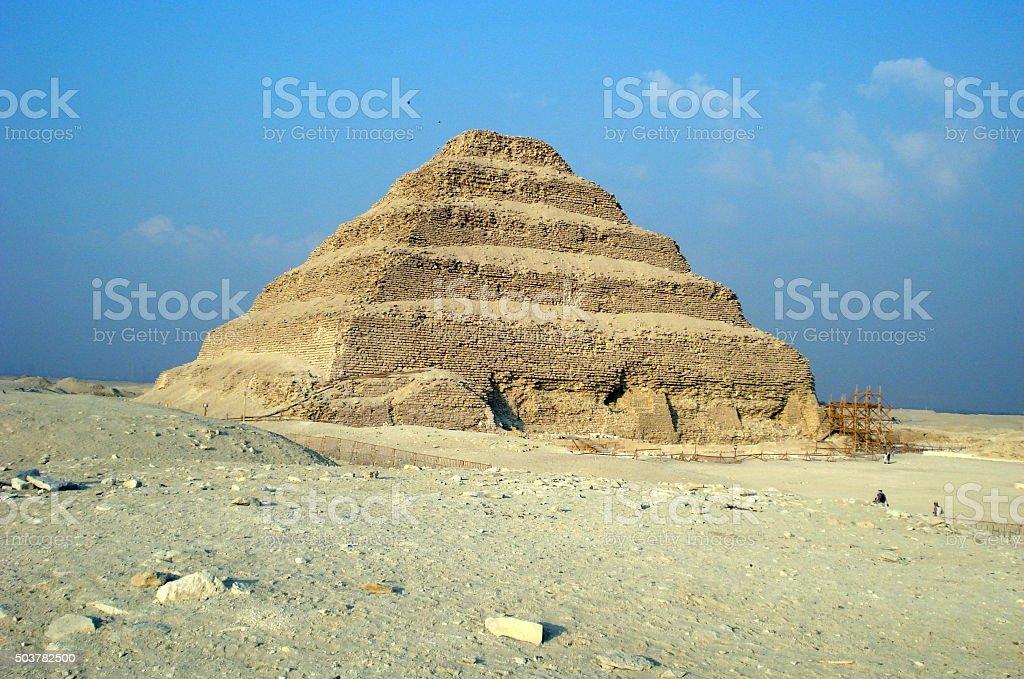 Step Pyramid of Djoser, Saqqara, Egypt stock photo