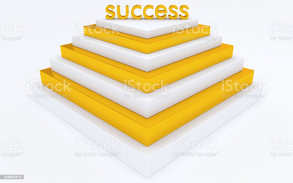 step pyramid of success stock photo