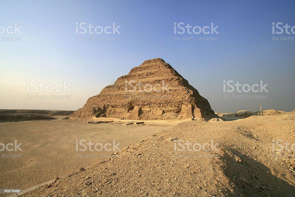 Step Pyramid of Zoser in Saqqara, Egypt stock photo