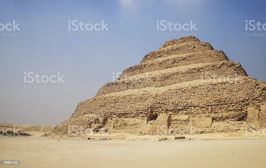 Step Pyramid royalty-free stock photo