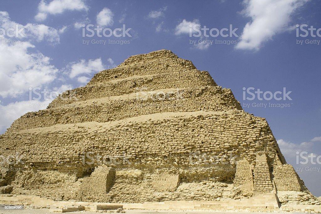 Step pyramid, Saqqara, Egypt stock photo