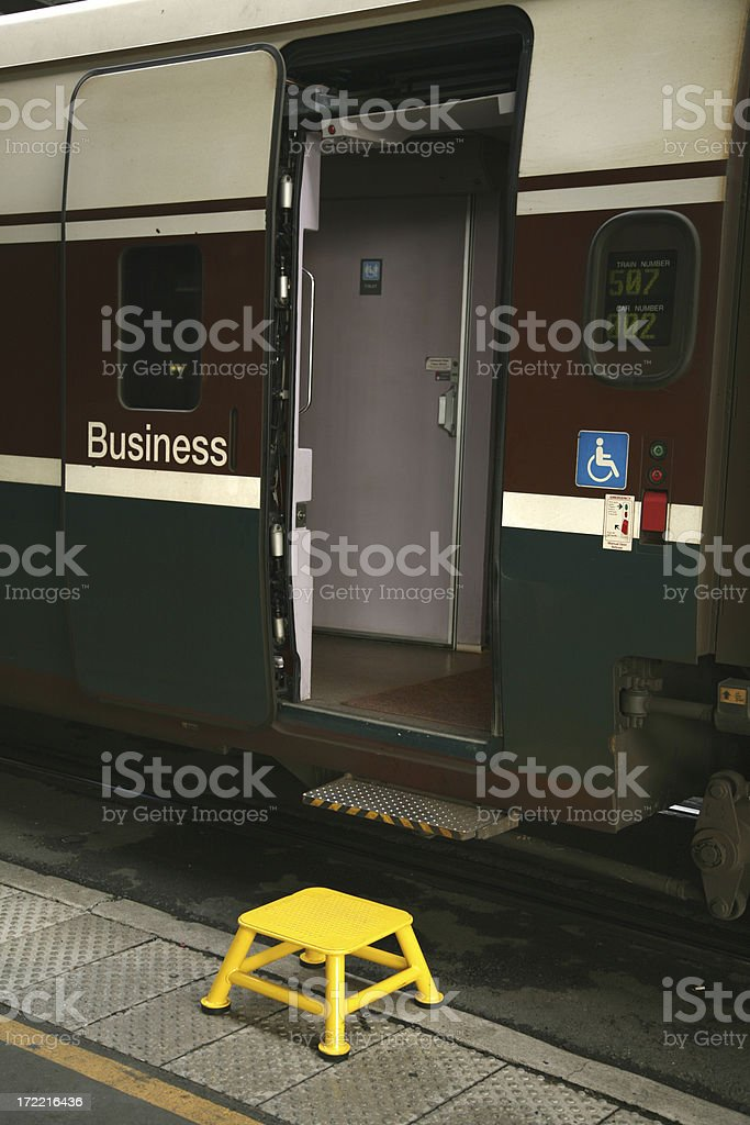 Step up to first class. royalty-free stock photo