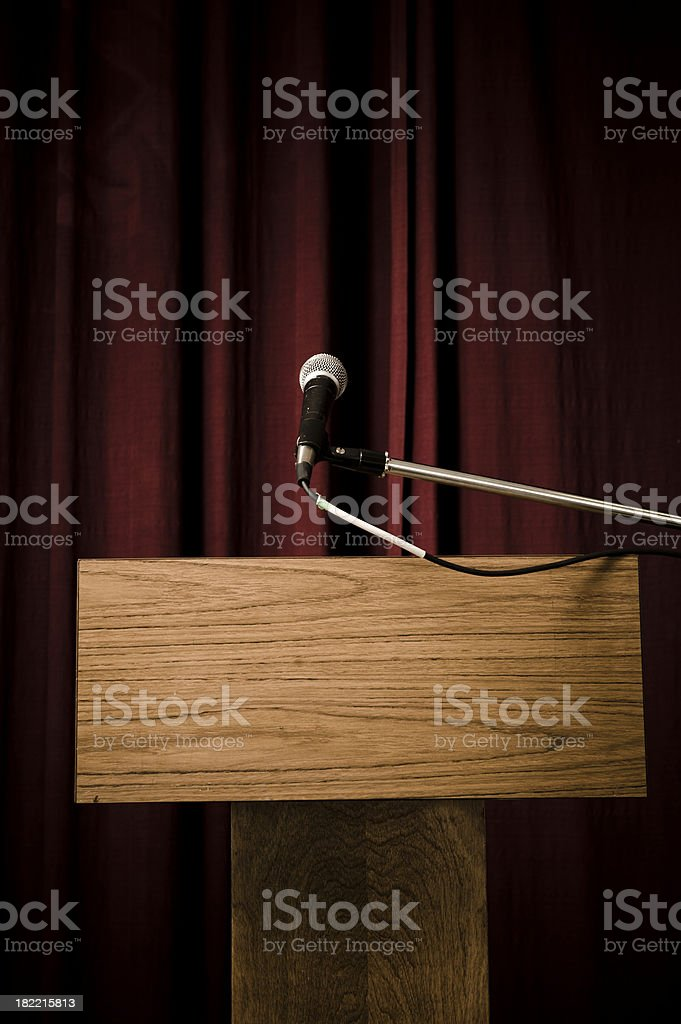 Step Up To The Mic stock photo