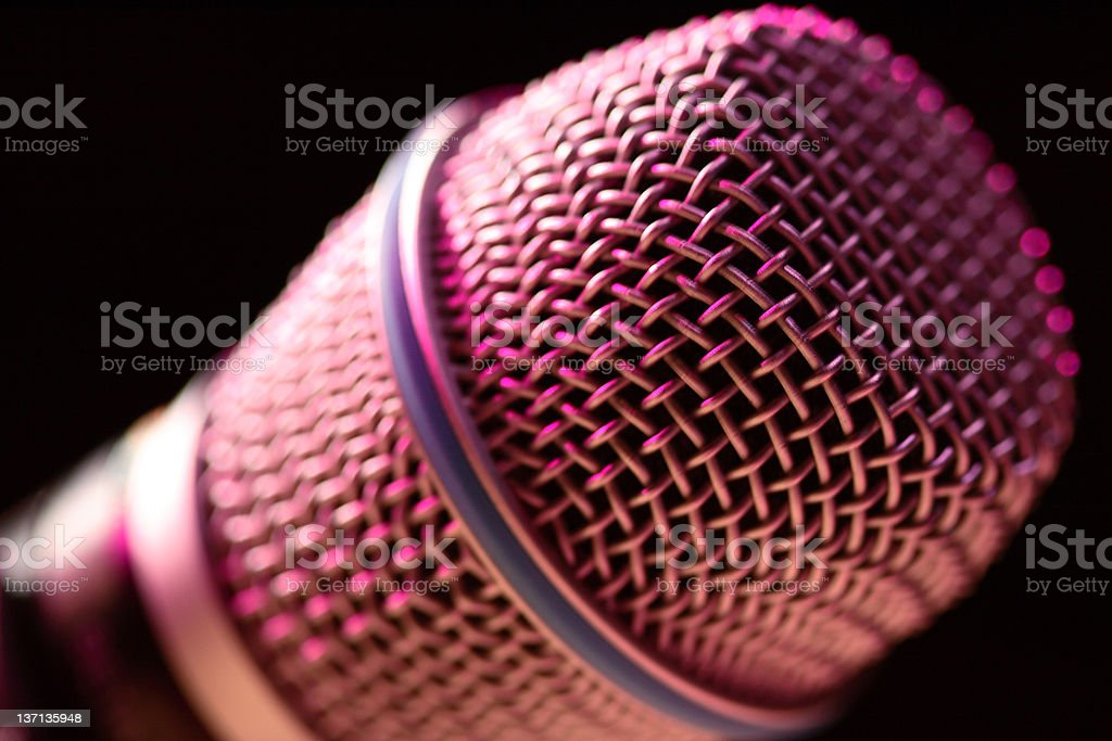 Step up to the microphone royalty-free stock photo
