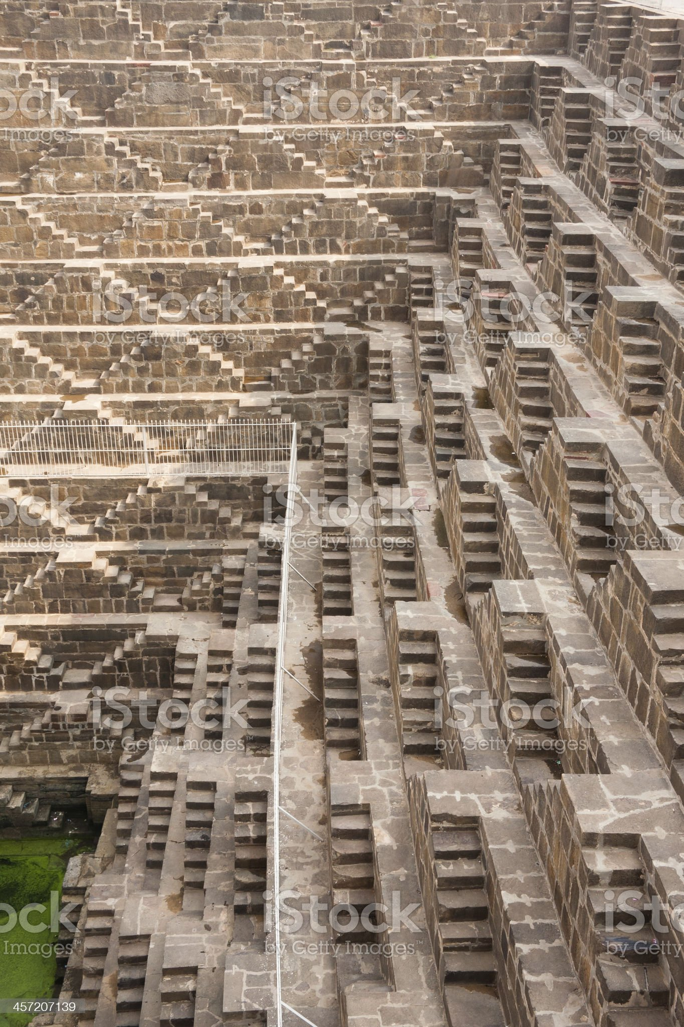 Step Well near Jaipur in Rajasthan state, India. royalty-free stock photo