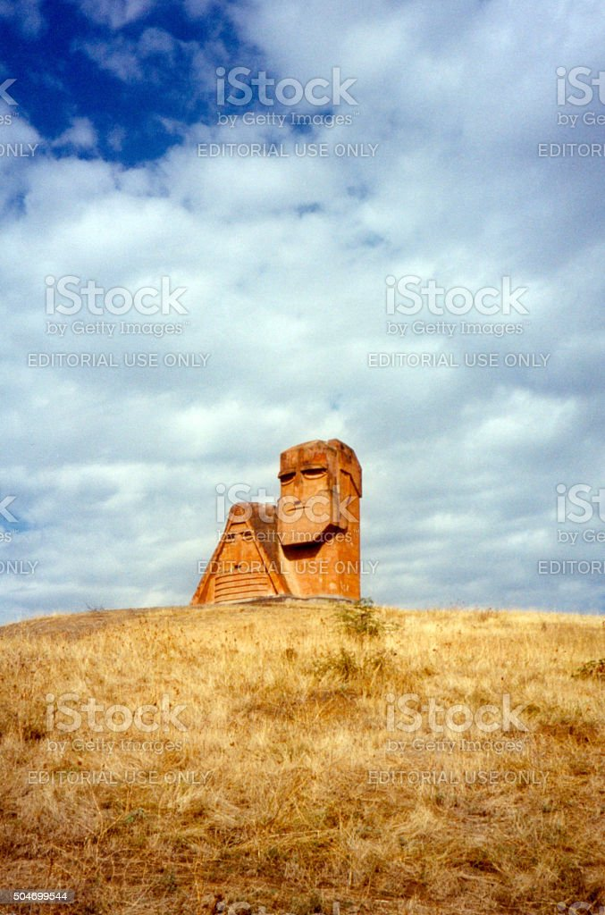 Stepanakert, Nagorno Karabakh / Artsakh: 'We Are Our Mountains' park stock photo