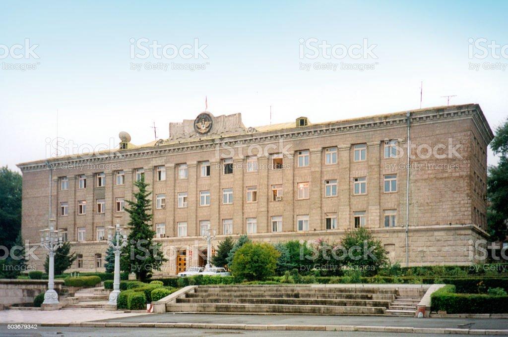 Stepanakert / Xankandi:  Nagorno-Karabakh government building stock photo