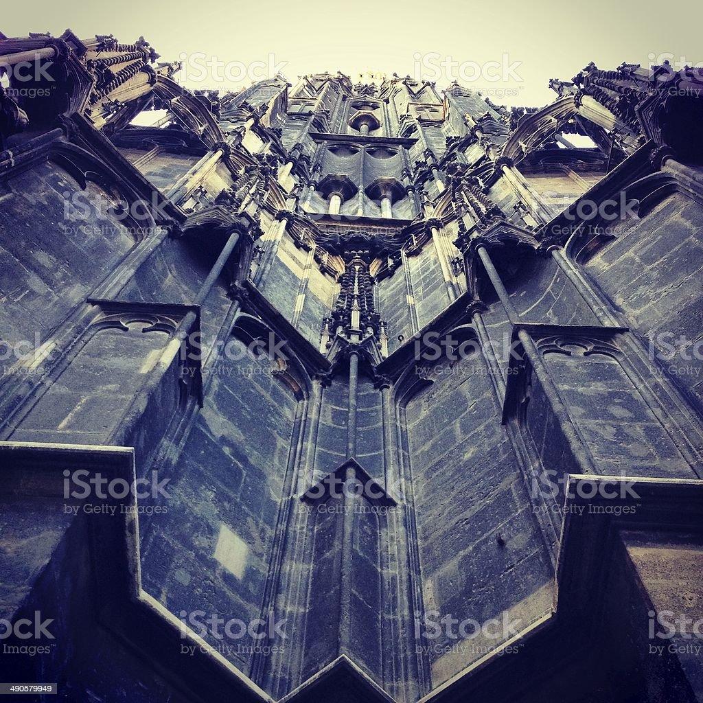 Stephansdom gothic angle stock photo