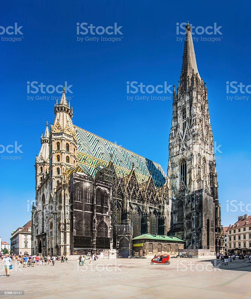 Stephansdom (St. Stephen's Cathedral) in Vienna, Austria stock photo