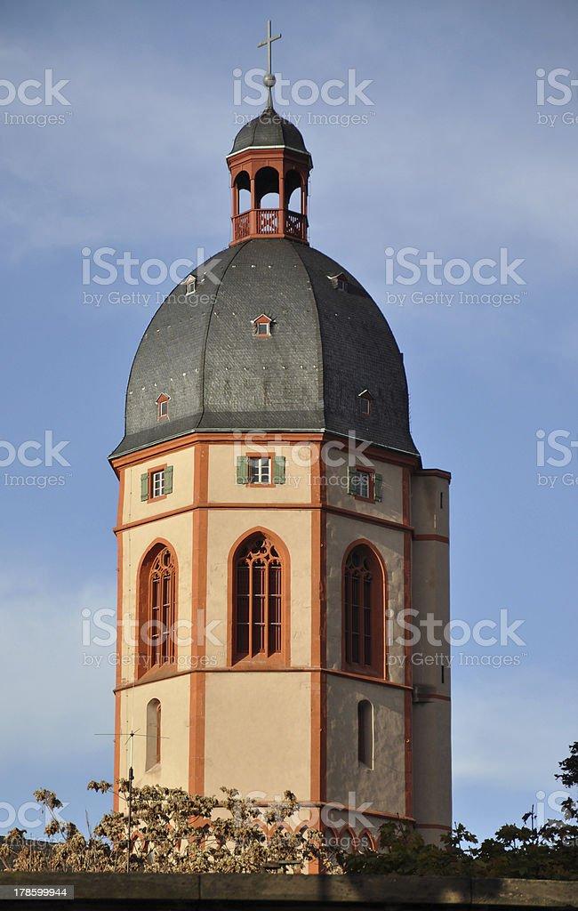 Stephanskirche, a famous church in Mainz, Germany stock photo