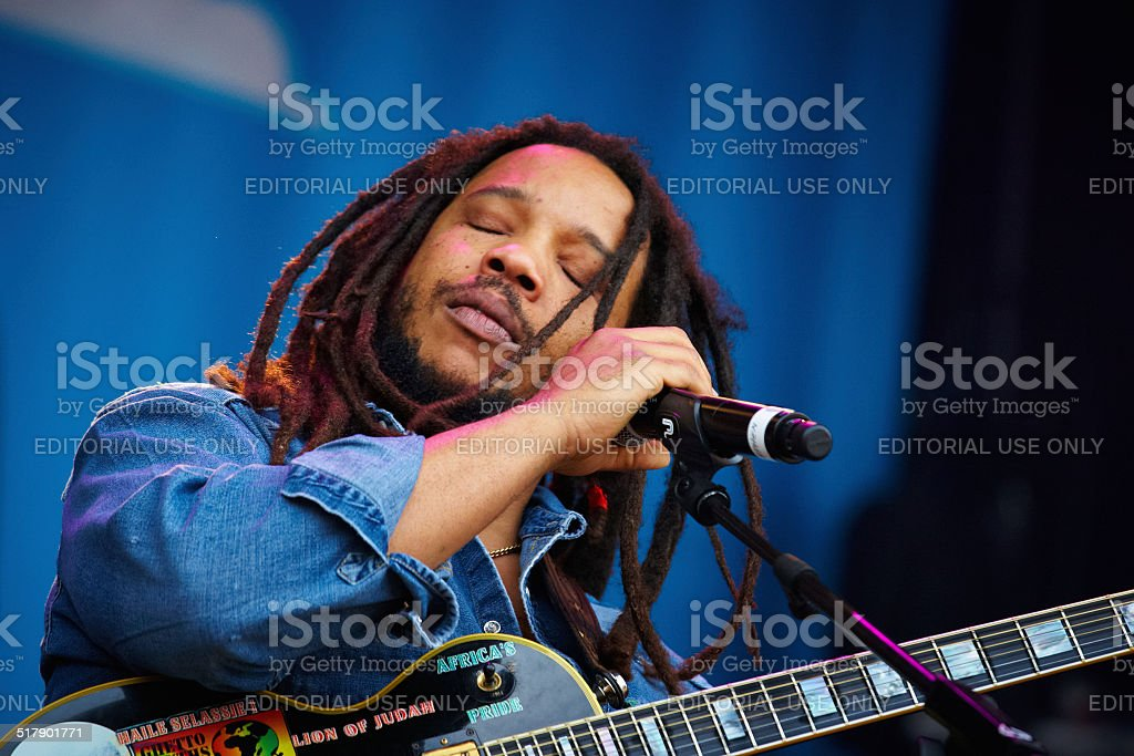 Stephen Marley live on stage stock photo