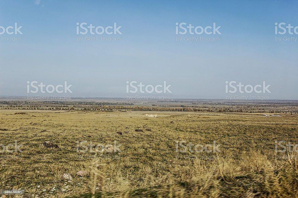 Steppe - Kazakhstan stock photo