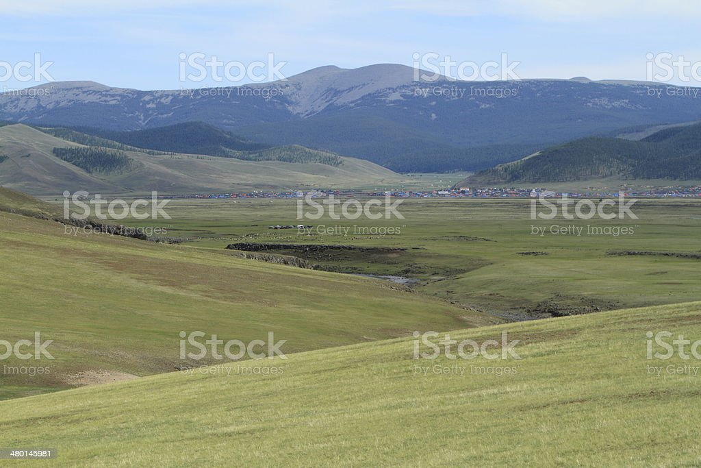 Steppenlandschaften der Mongolei stock photo