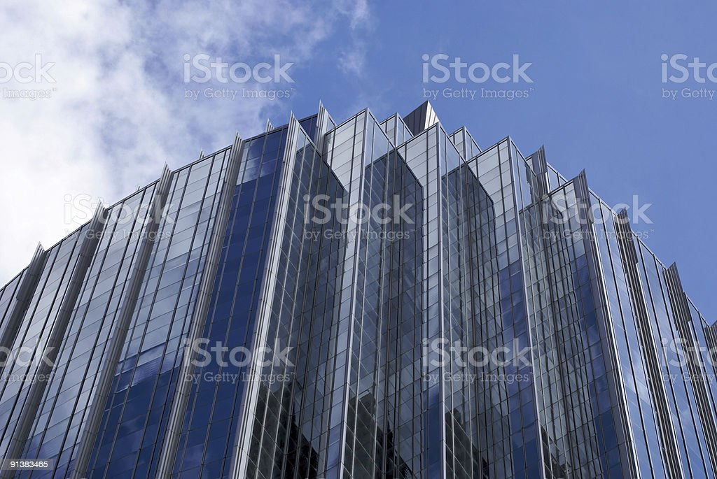 stepped skyscraper royalty-free stock photo
