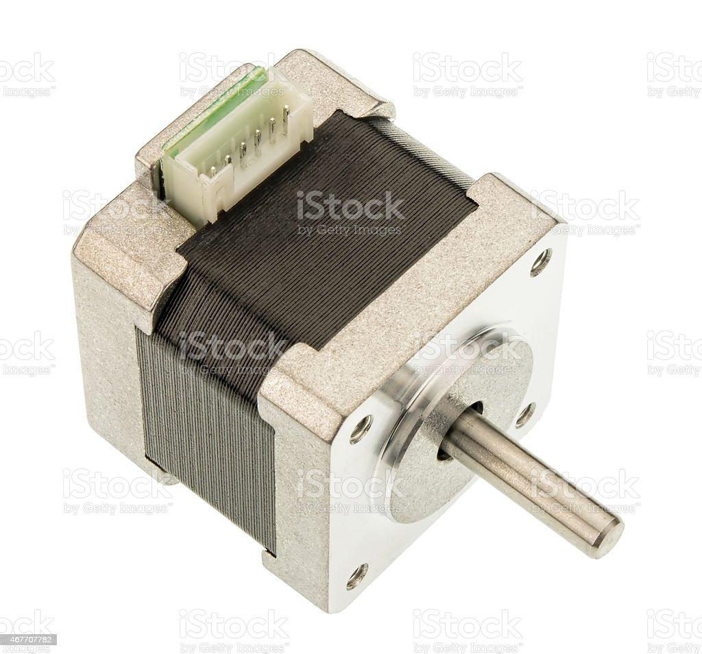 Stepper motor isolated on white stock photo