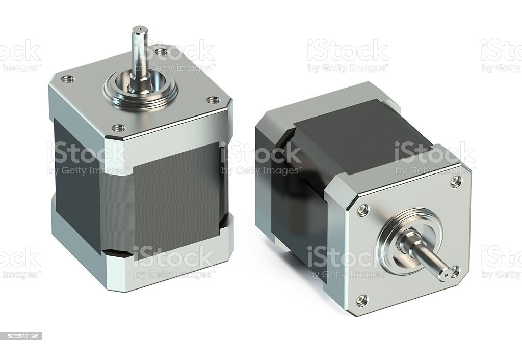 Stepper motors stock photo