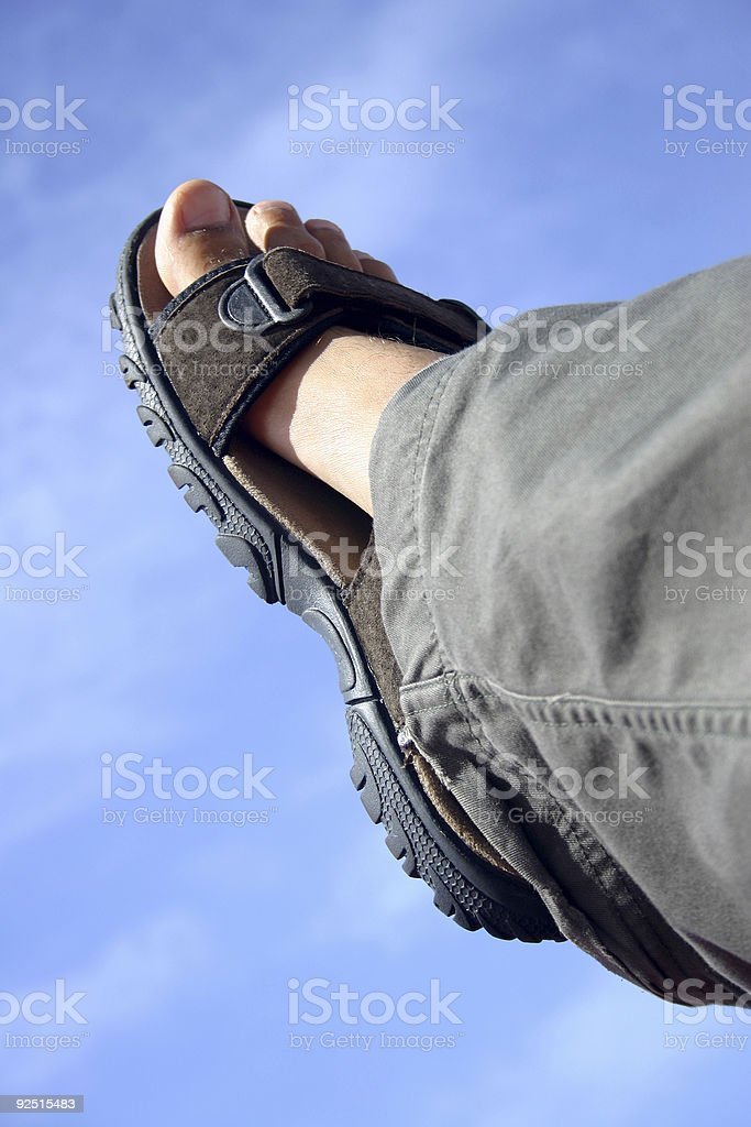 Stepping into the Unknown royalty-free stock photo