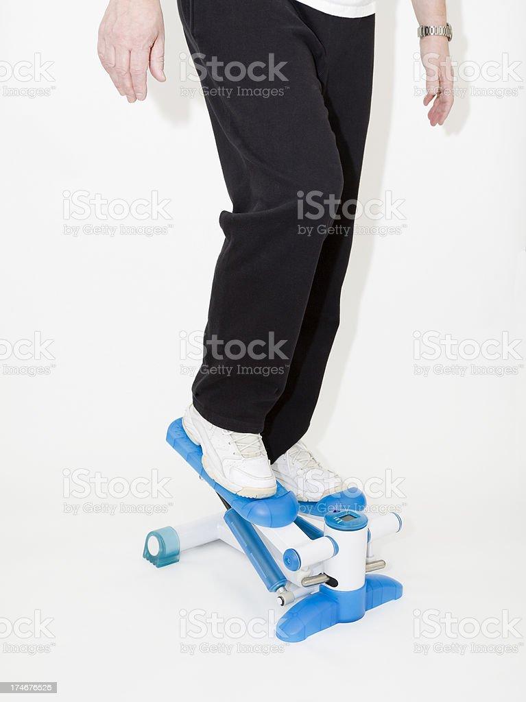 stepping machine stock photo