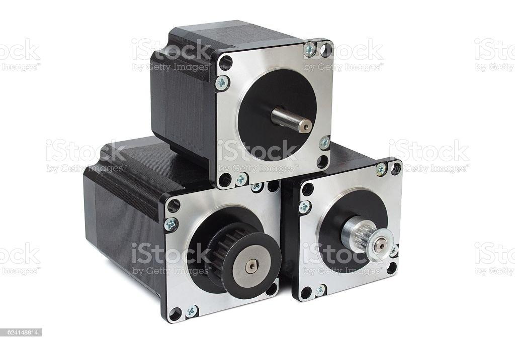 Stepping motors stock photo