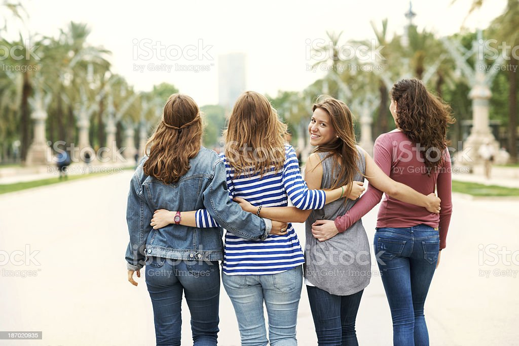 Stepping out together royalty-free stock photo