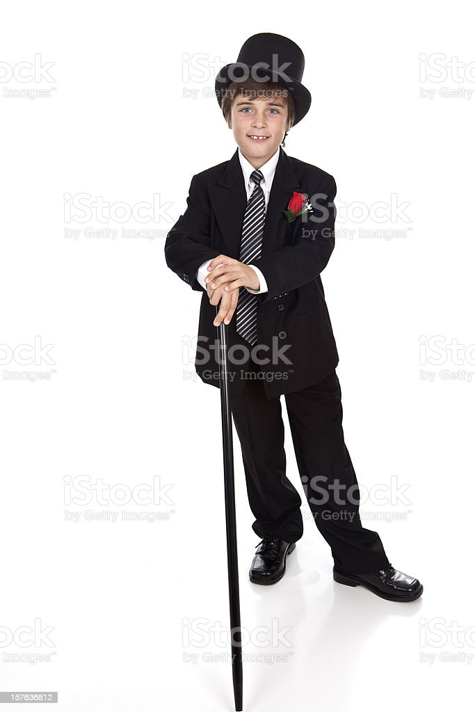Stepping Out With Top Hat and Cane stock photo
