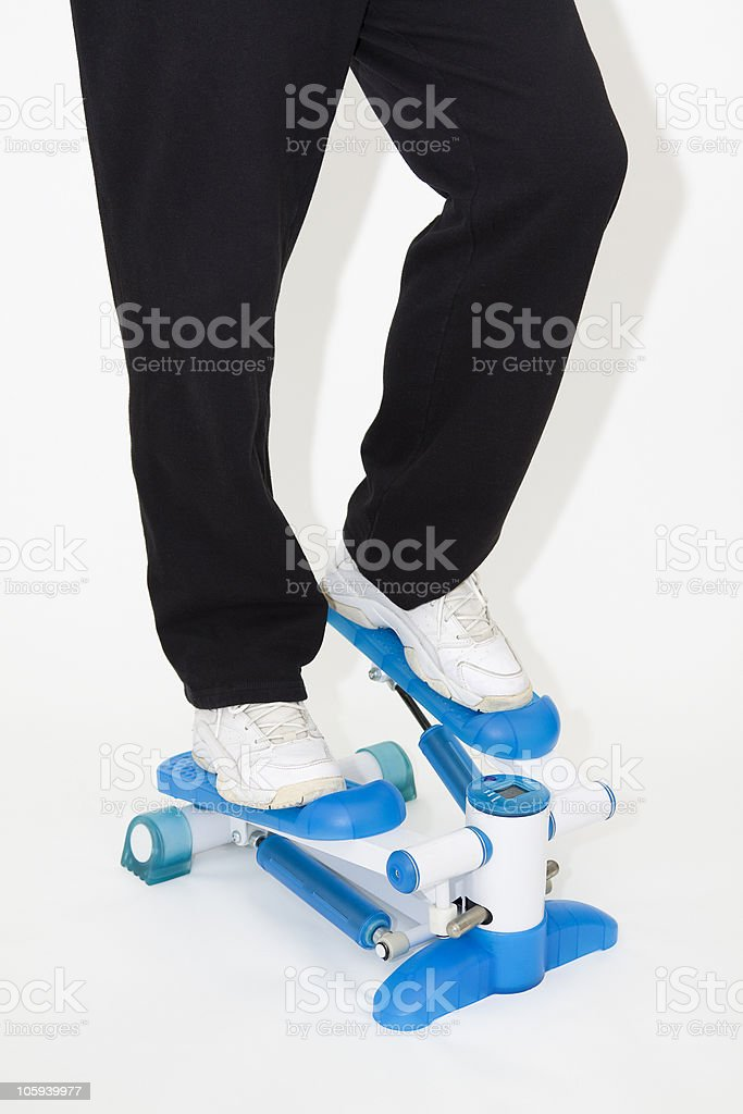 stepping royalty-free stock photo