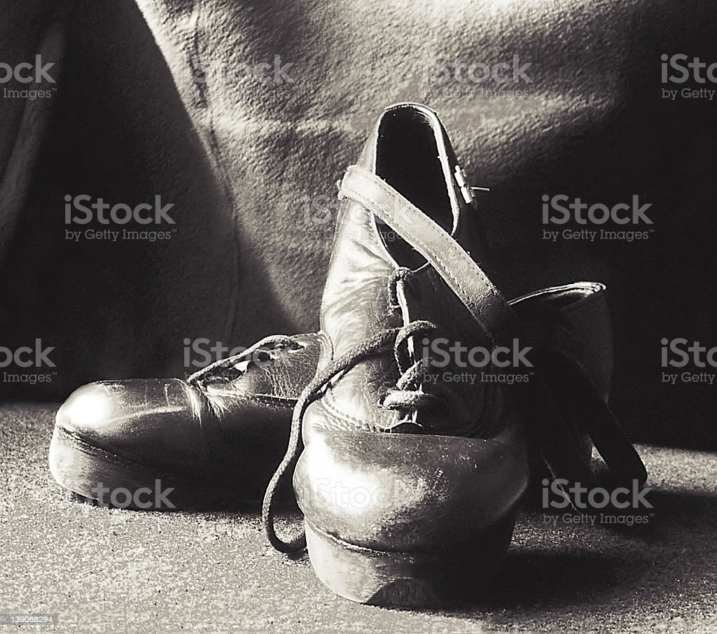 Stepping shoes stock photo