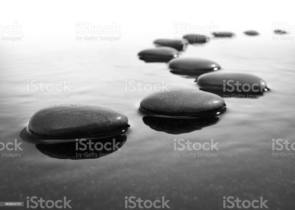 stepping stone stock photo