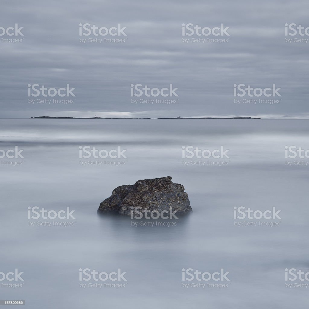 stepping stone to the farne islands royalty-free stock photo