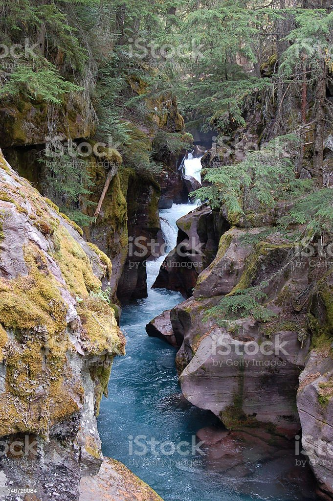 Stepping Stone Water Falls royalty-free stock photo